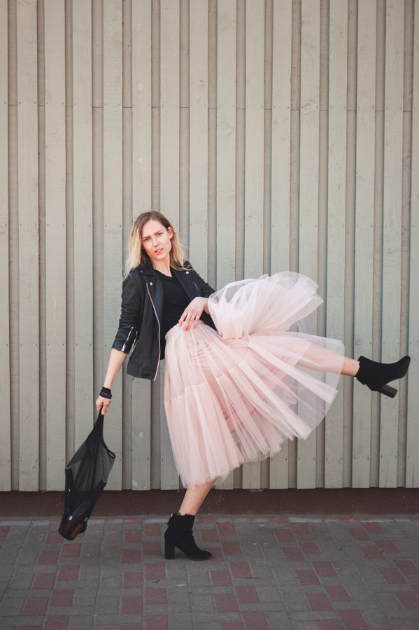 Tulle Skirt Carrie - Powder Pink