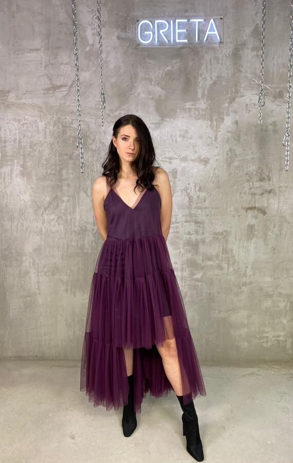 Festive Season Long Tulle Dress